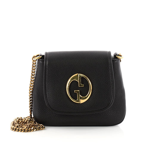 8a9d8e83d8e Buy Gucci 1973 Crossbody Bag Leather Small Black 3391304 – Rebag