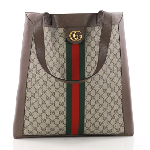 69336be04fa6 Buy Gucci Ophidia Soft Open Tote GG Coated Canvas Large Gray 3391501 – Rebag