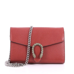 Gucci Dionysus Chain Wallet Leather with Embellished 3394001