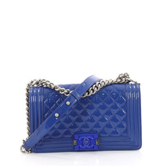 Chanel Boy Flap Bag Quilted Plexiglass Patent Old Medium 3394703
