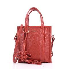 Balenciaga Bazar Convertible Tote Leather XS Red 3400902