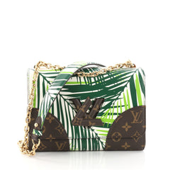 Twist Handbag Limited Edition Palm Print Leather with Monogram Canvas MM