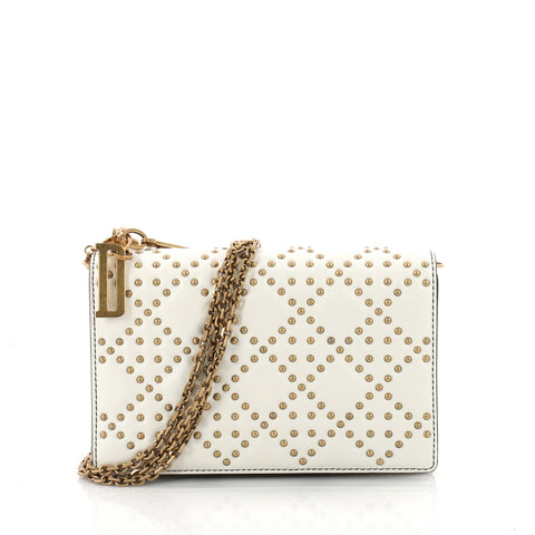 Buy Christian Dior Lady Dior Wallet on Chain Cannage Studded 3412701 – Rebag 5539992604ab0