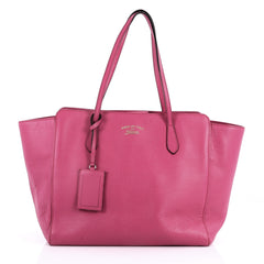 Gucci Swing Tote Leather Medium Pink 3417003
