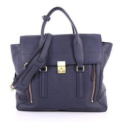 3.1 Phillip Lim Pashli Satchel Leather Large Blue 3418601