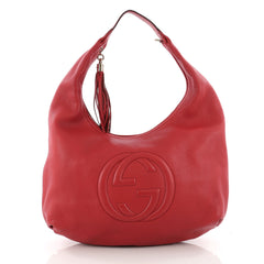 Gucci Soho Hobo Leather Large Red 3419808