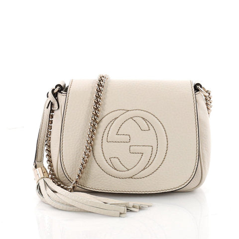 85924b6dc Buy Gucci Soho Chain Crossbody Bag Leather Small Neutral 3420202 – Rebag
