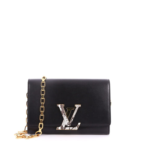 Louis Vuitton Chain Louise Clutch Leather with Python GM 3422701 – Rebag 29478d16694