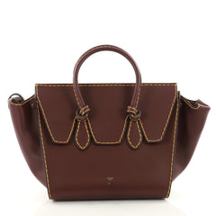 Celine Tie Knot Tote Smooth Leather Small Purple 3423504