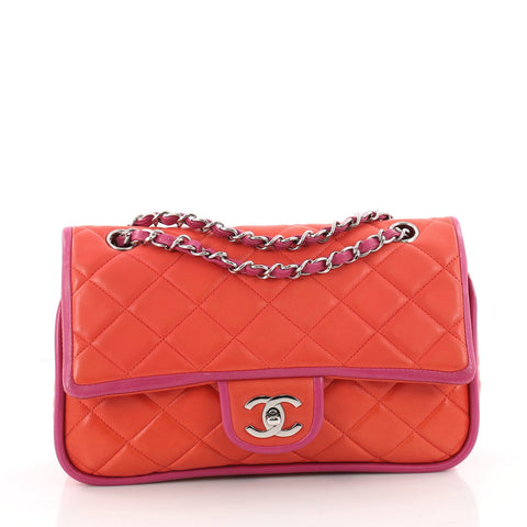 87e012ed8155 Chanel Vintage Two Tone Classic Double Flap Bag Quilted 3427404 – Rebag