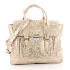 3.1 Phillip Lim Pashli Satchel Leather Medium Gold 3431401