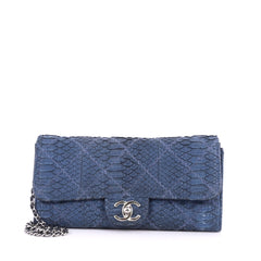 Chanel Ultimate Stitch Chain Wallet Quilted Matte Python 3431802