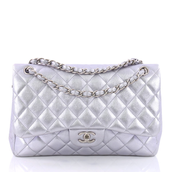 Buy Chanel Classic Double Flap Bag Quilted Lambskin Jumbo 3431904 – Rebag a6df8c8b9d13e