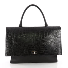 Givenchy Shark Convertible Satchel Crocodile Embossed 3432501