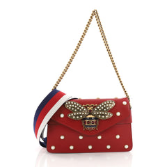 Gucci Broadway Pearly Bee Shoulder Bag Embellished 3436301