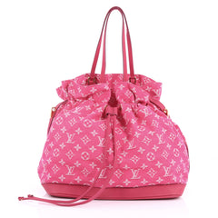 Louis Vuitton Noefull Handbag Denim MM Pink 3442302