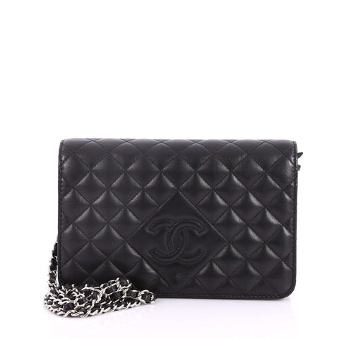 6611222609f2 Buy Chanel Diamond CC Wallet on Chain Quilted Lambskin Black 3445503 – Rebag