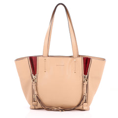 Chloe Milo Shopping Tote Leather Small Neutral 3450604