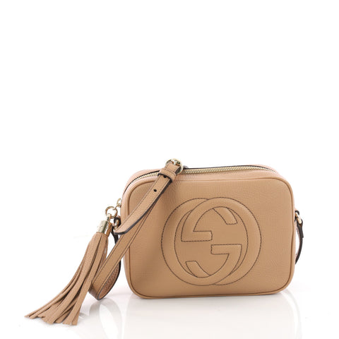 f240f61b84e Buy Gucci Soho Disco Crossbody Bag Leather Small Brown 3451602 – Rebag