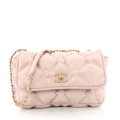 Chanel Chesterfield Flap Bag Quilted Calfskin Jumbo Pink 3451901
