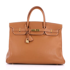 Birkin Handbag Gold Togo with Gold Hardware 40