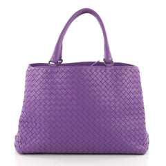 Bottega Veneta Milano Tote Intrecciato Nappa Large Purple 3455904
