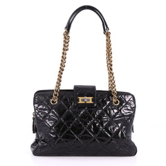Chanel Reissue Zip Satchel Quilted Glazed Calfskin 3456801