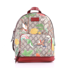 Zip Pocket Backpack Tian Print GG Coated Canvas Small