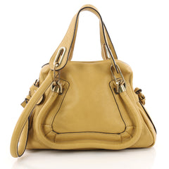 Chloe Paraty Top Handle Bag Leather Small Yellow 3460104