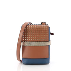 Christian Louboutin Benech Reporter Bag Spiked Leather 3461201