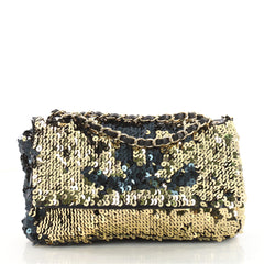 Chanel Summer Night Flap Bag Sequins with Leather Medium 3461703