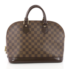 Louis Vuitton Vintage Alma Handbag Damier PM Brown 3462603