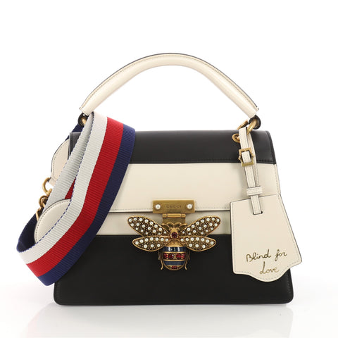 Queen Margaret Top Handle Bag Colorblock Leather Small