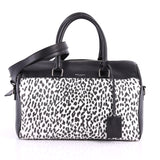 Saint Laurent Classic Duffle Bag Printed Leather 6 Black 3465001