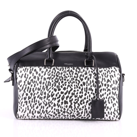 a14418ad21ba Saint Laurent Classic Duffle Bag Printed Leather 6 Black 3465001 – Rebag