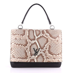 Louis Vuitton Lockme II Handbag Leather with Python 3467101