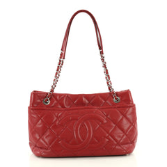 Chanel Timeless CC Soft Tote Quilted Caviar Medium Red 3470801