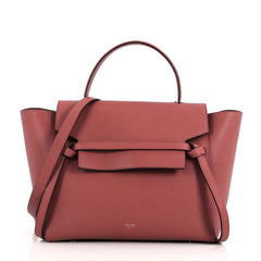 Celine Belt Bag Textured Leather Mini Red 3473201