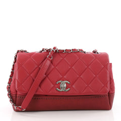Bi Coco Flap Bag Quilted Lambskin with Caviar Medium