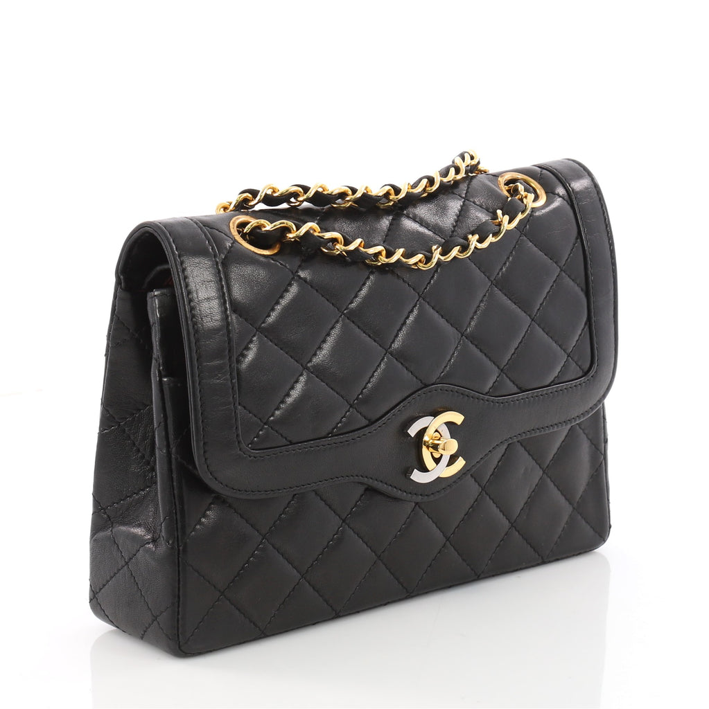 caeaea606776b8 Buy Chanel Vintage Two-Tone CC Flap Bag Quilted Lambskin 3473502 – Rebag