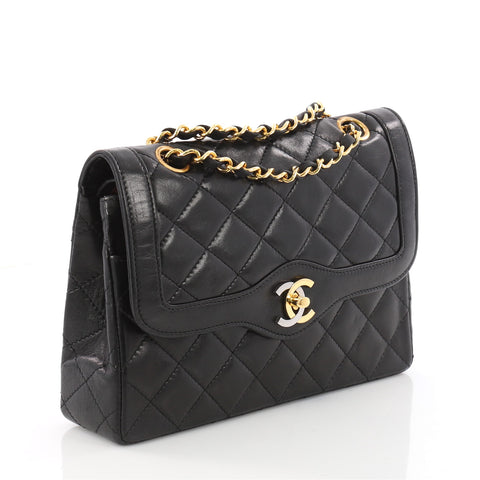 819f67dd7d3f Buy Chanel Vintage Two-Tone CC Flap Bag Quilted Lambskin 3473502 – Rebag