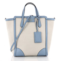 Gucci Swing Tote Canvas and Leather Tall Blue 3474505