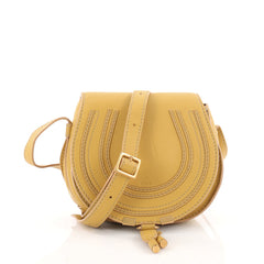 Chloe Marcie Crossbody Bag Leather Mini Yellow 3474605