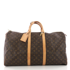 Louis Vuitton Keepall Bag Monogram Canvas 55 Brown 3479101