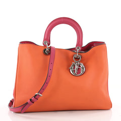Christian Dior Diorissimo Tote Smooth Calfskin Large Orange 3481602