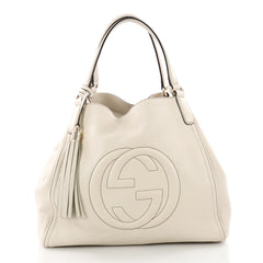 Gucci Soho Shoulder Bag Leather Medium Neutral 3489901