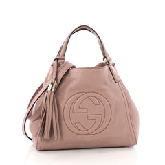 Gucci Soho Convertible Shoulder Bag Leather Small Pink 3490201