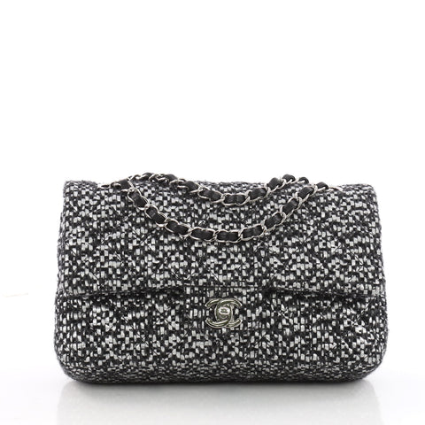 f548385c93e3 Buy Chanel Classic Double Flap Bag Quilted Tweed and Raffia 3491101 – Rebag