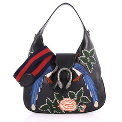 Gucci Dionysus Hobo Embroidered Leather Small Black 3491401