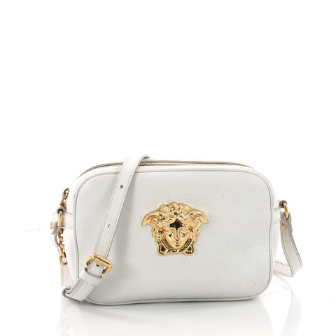 32b555b3861f Buy Versace Palazzo Medusa Camera Bag Leather Small White 3492201 – Rebag